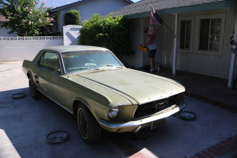 1967 Ford Mustang out of Stroage