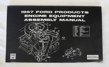 1967 Ford Mustang Engine Equipment Assembly Manual Reprint