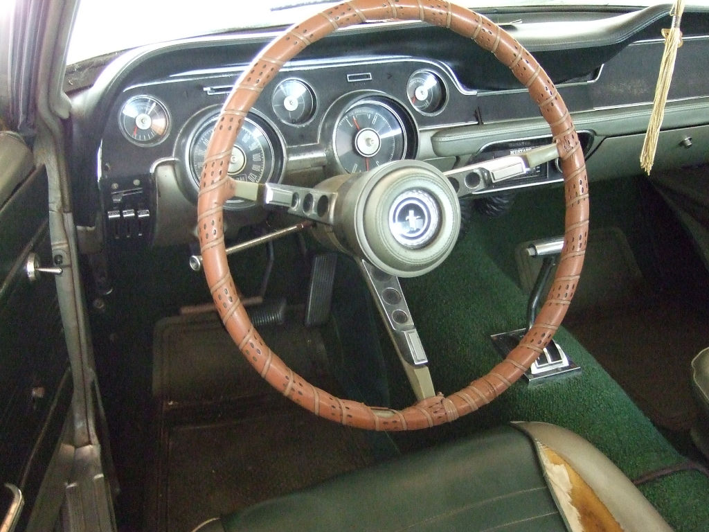 1967 Ford Mustang in storage dash 2