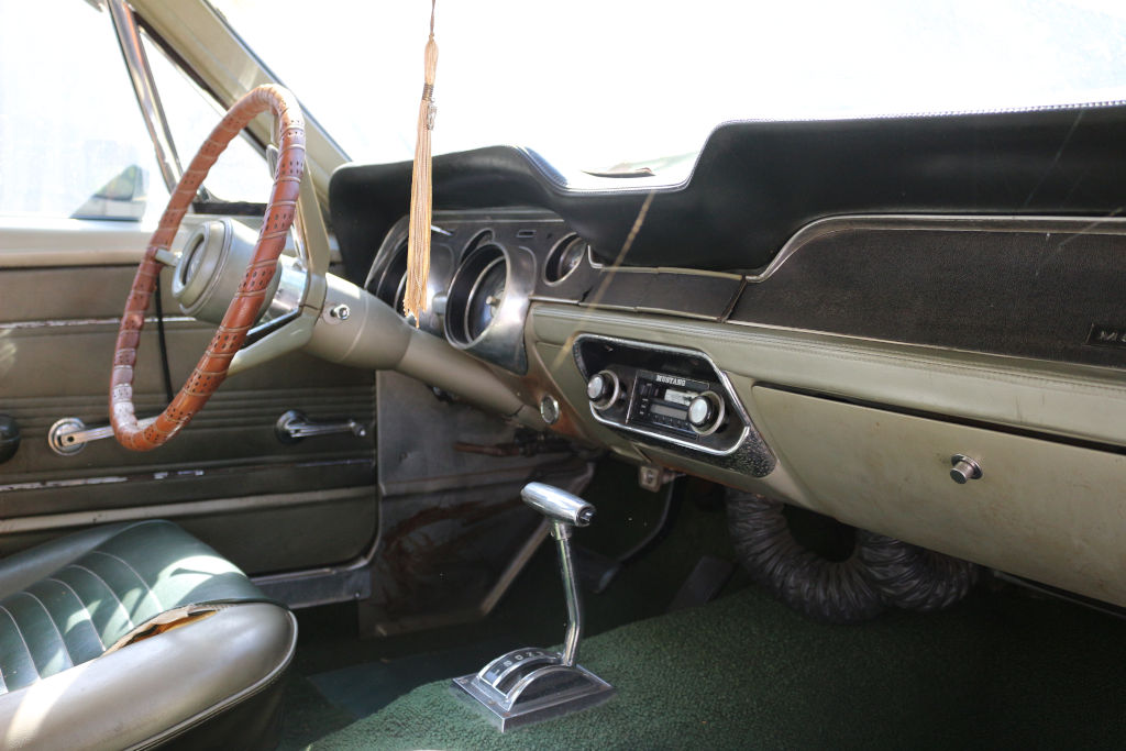 1967 Ford Mustang in storage dash
