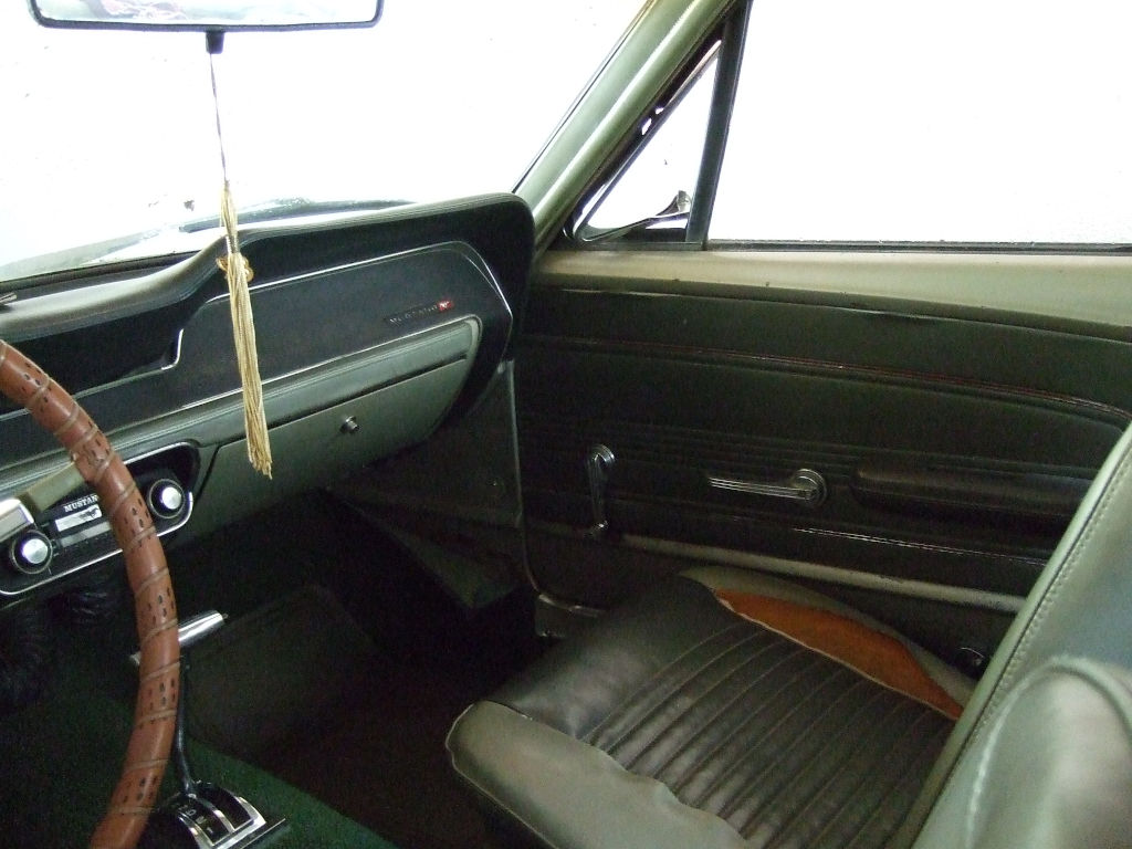 1967 Ford Mustang in storage front passager 2